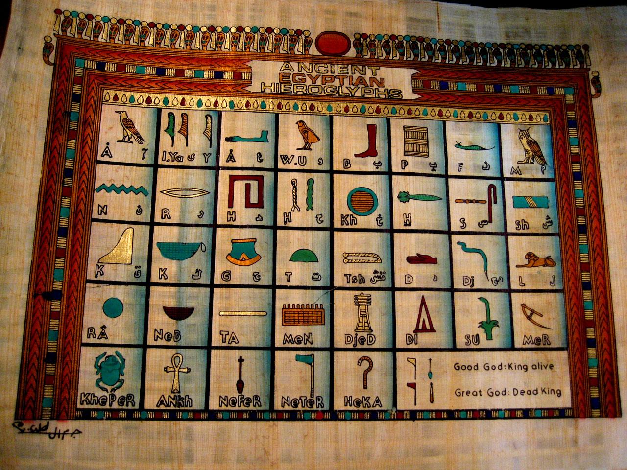 エジプトのパピルス